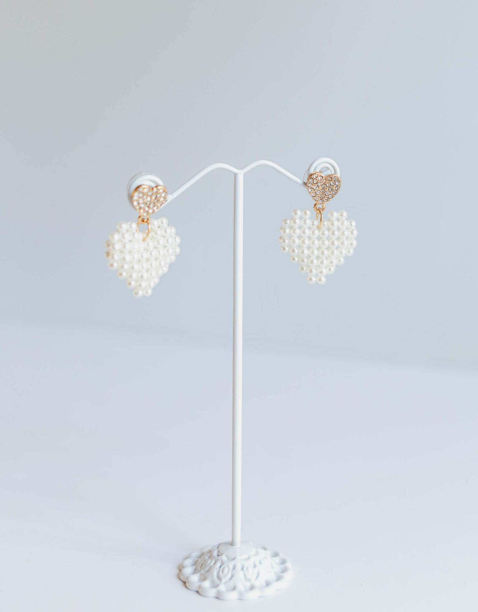 Golden Stella Heart Pearl & Crystal Ears