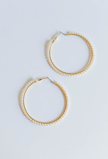 Golden Stella 70 mm Pearl Hoops