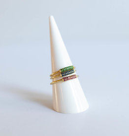 P and K Jewelry Multi Gems Ring