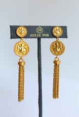 Julie Vos Coin Tassel Ear Cz