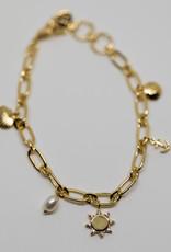 Gorjana Seashell Charm Bracelet Gold