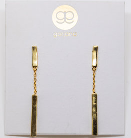 Gorjana Taner Bar Chain Earrings Gold