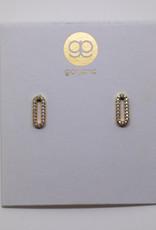 Gorjana Parker Shimmer Studs Gold Cz