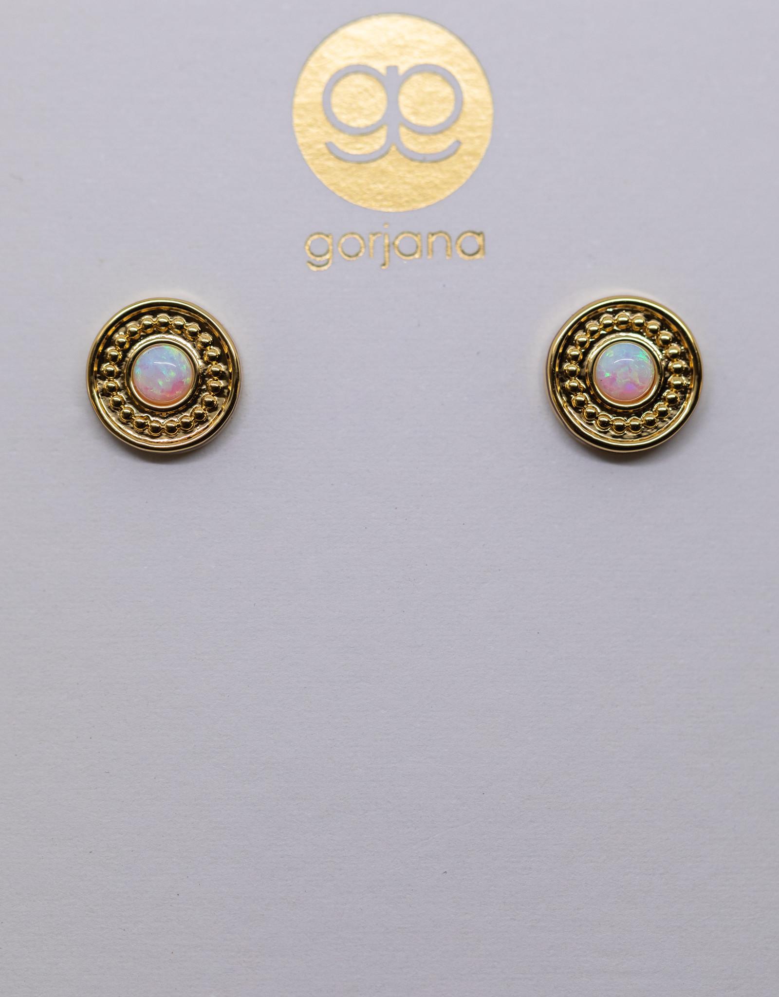 Gorjana Sunburst Coin Studs Gold