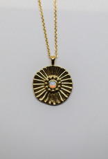 Gorjana Sunburst Coin Necklace Gold