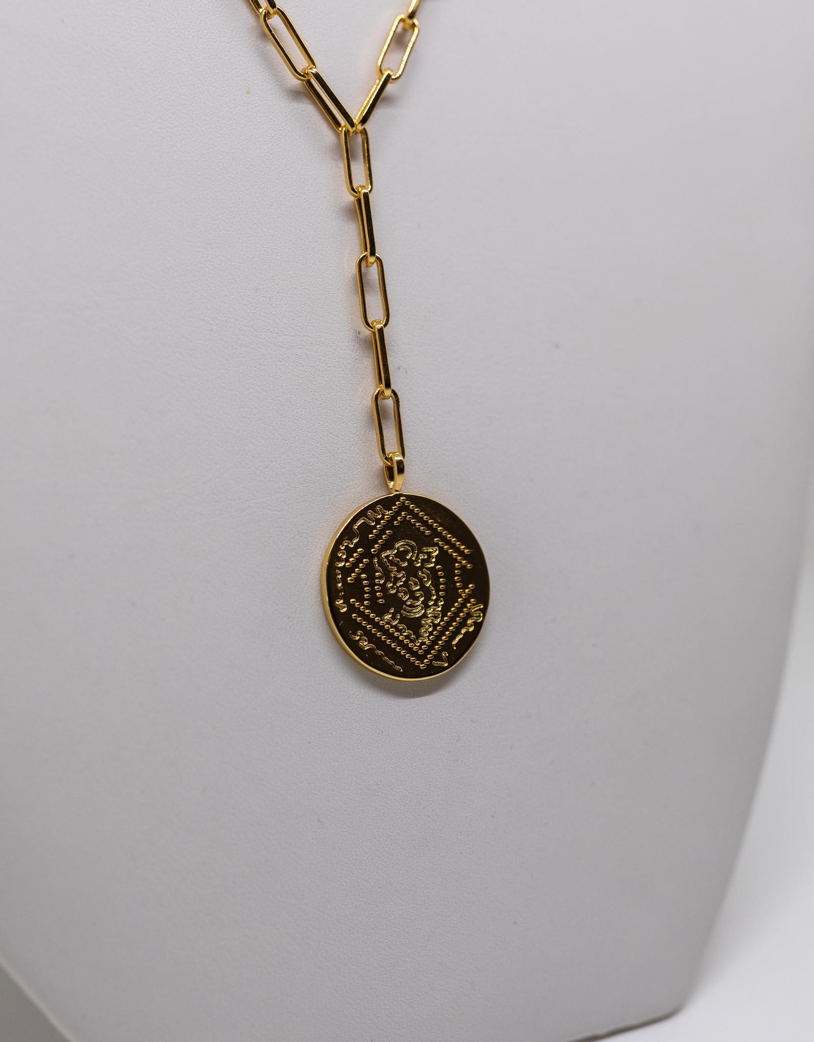 Gorjana Ana Coin Lariat Gold