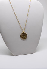 Gorjana Mosaic Coin Neck Gold