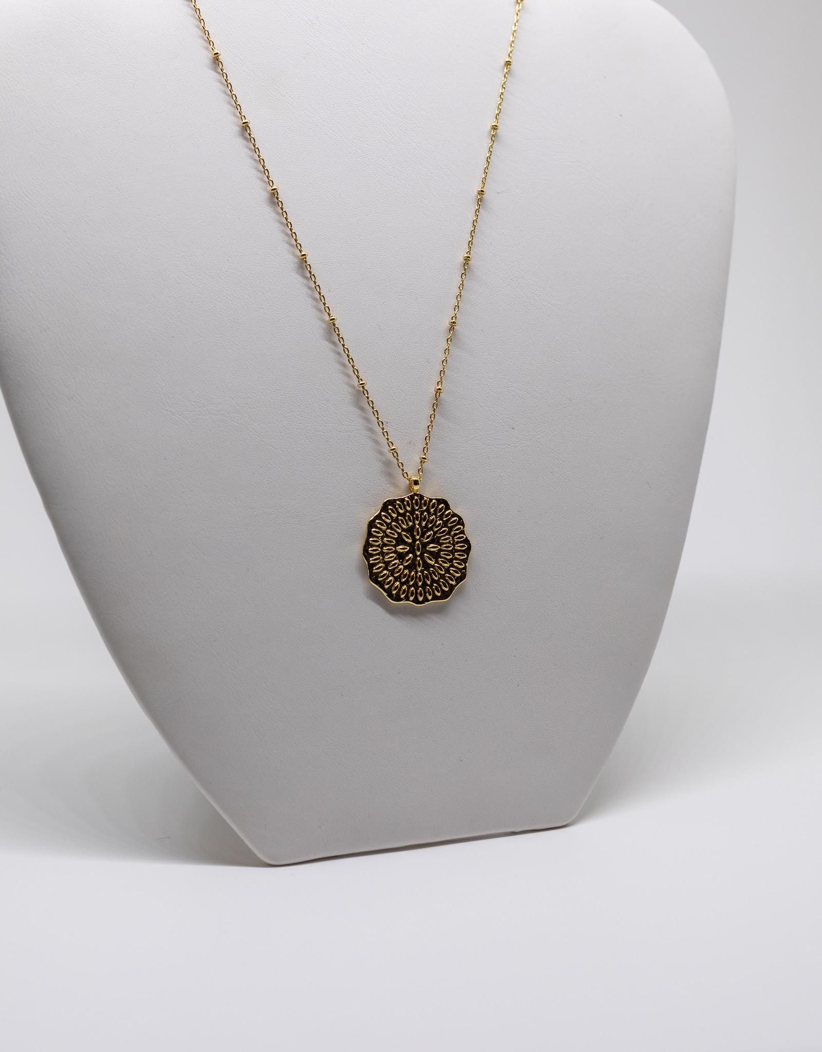 Gorjana Mosaic Coin Neck Gold
