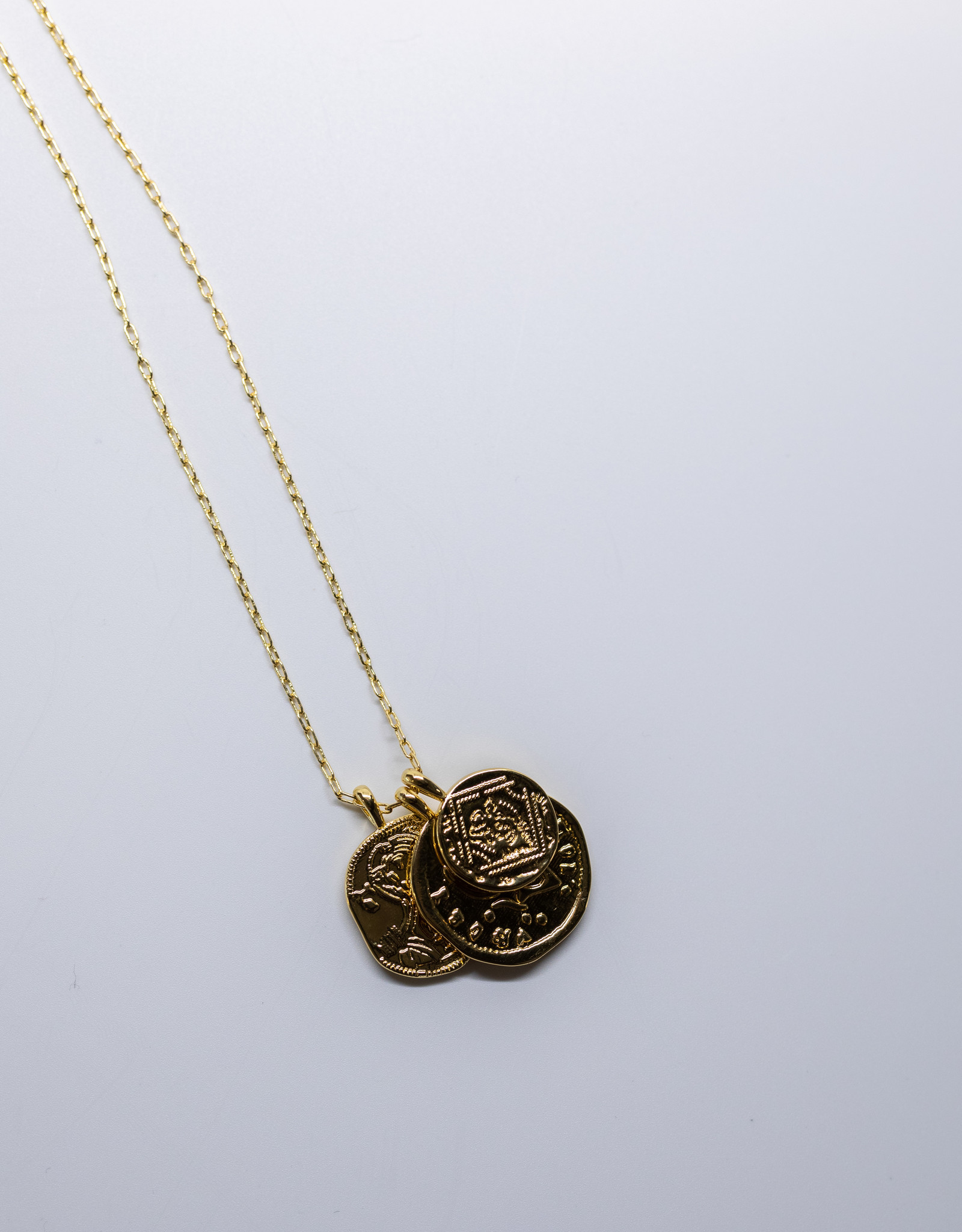 Gorjana Ana Coin Pendant Neck