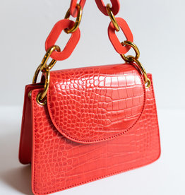 Melie Bianco Loren Chain Handle Croco
