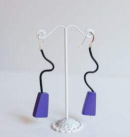 SYLCA Purple Geo Cubist Ear