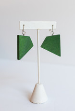 SYLCA Green Geometric Dangles