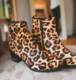 Elvina Leopard Bootie