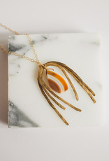 Agate Raw Brass Arches
