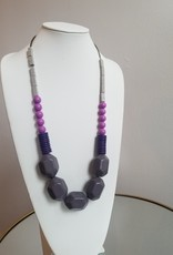 Purple Acrylic Necklace