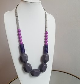 Purple Acrylic Necklace