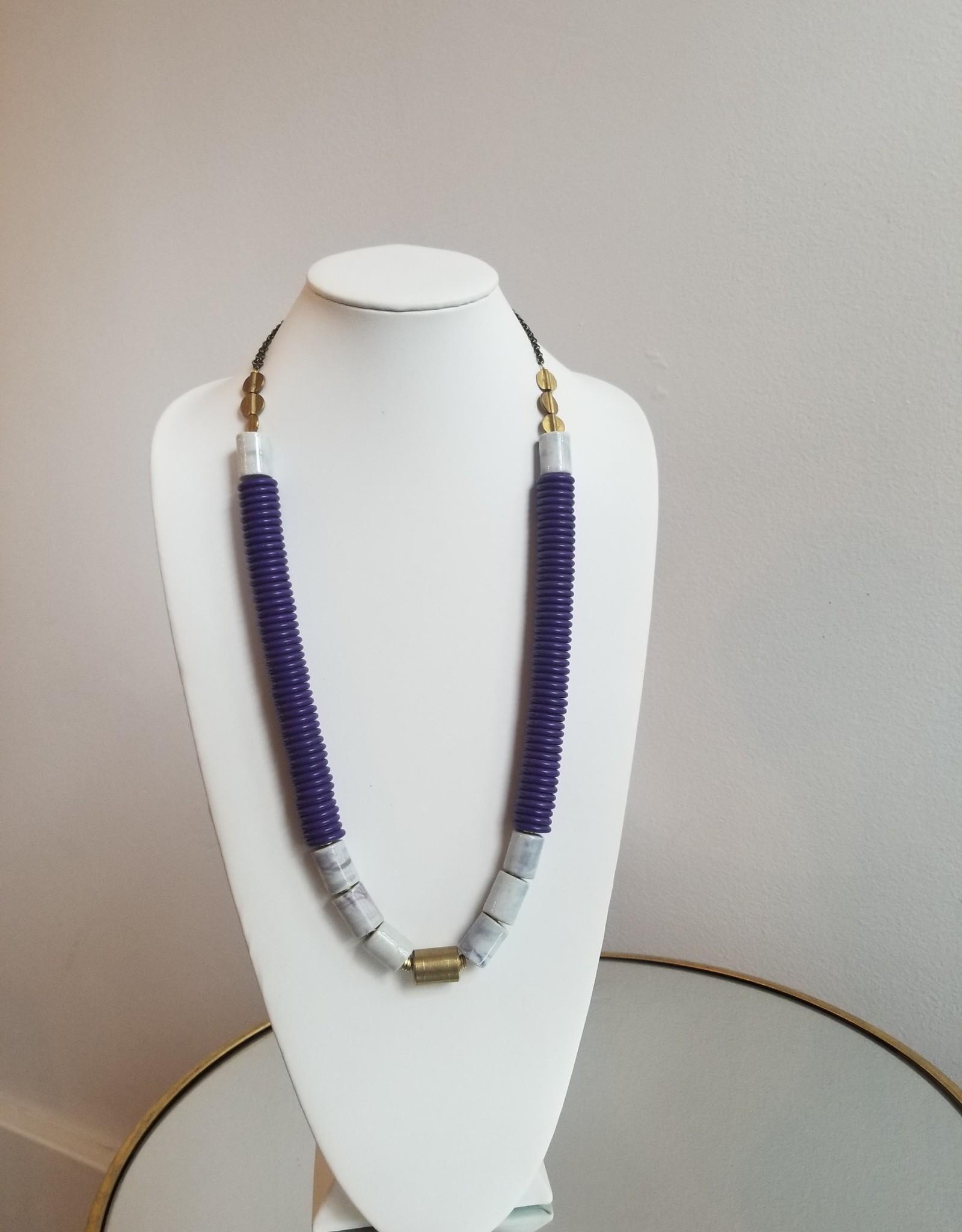 "32"" purple mag/porcelain/brass neck"