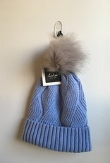 Recycled Cable Hat w/ Pom