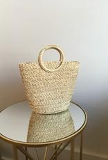 Melie Bianco Tiffany Straw Bucket