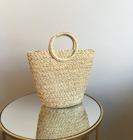 Melie Bianco Tiffany Straw Bucket