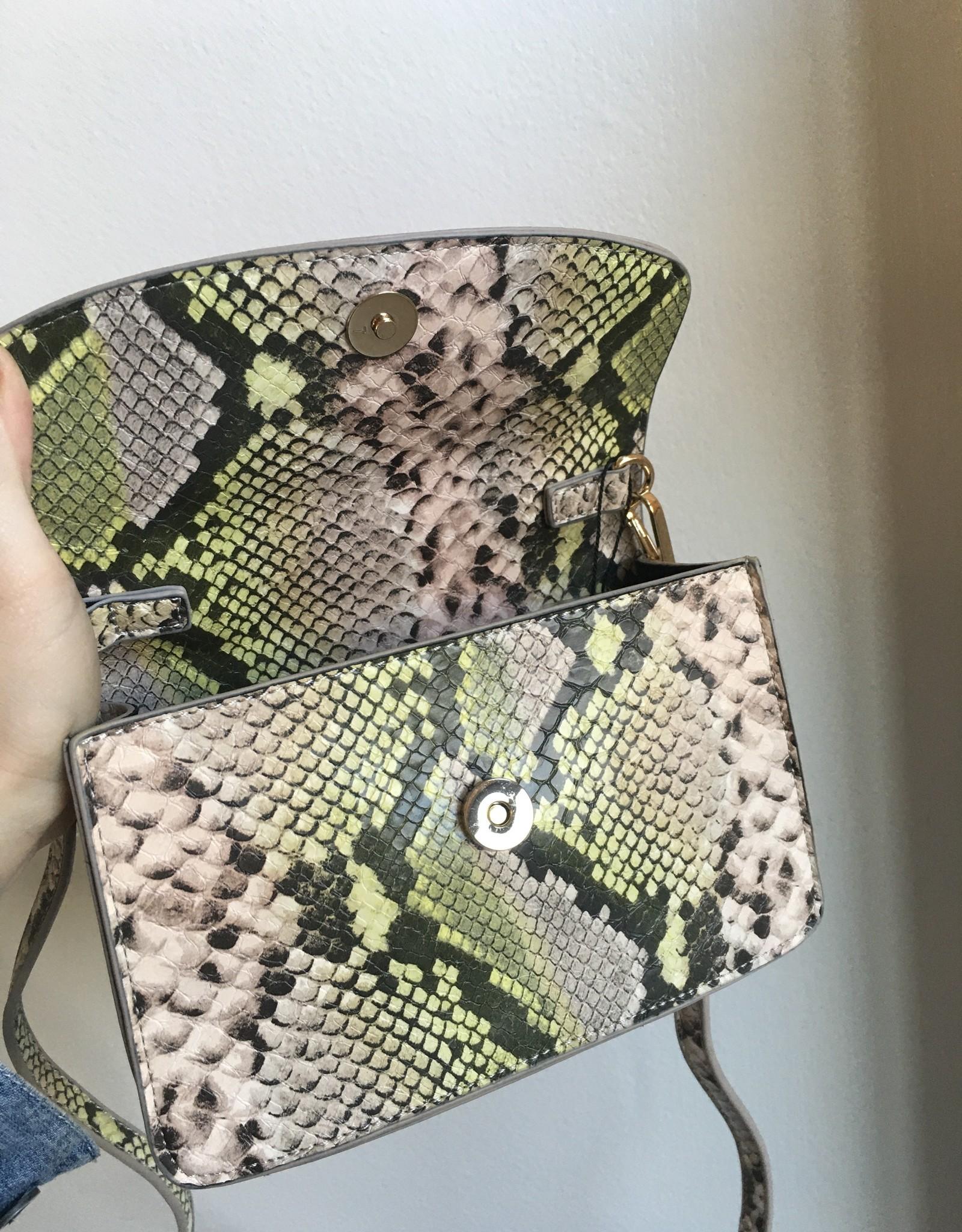 Pastel Snake Patent Purse