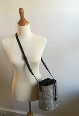 Grey Snake Skin Bucket Bag