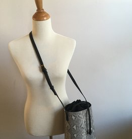 Grey Snake Skin Bucket Bag