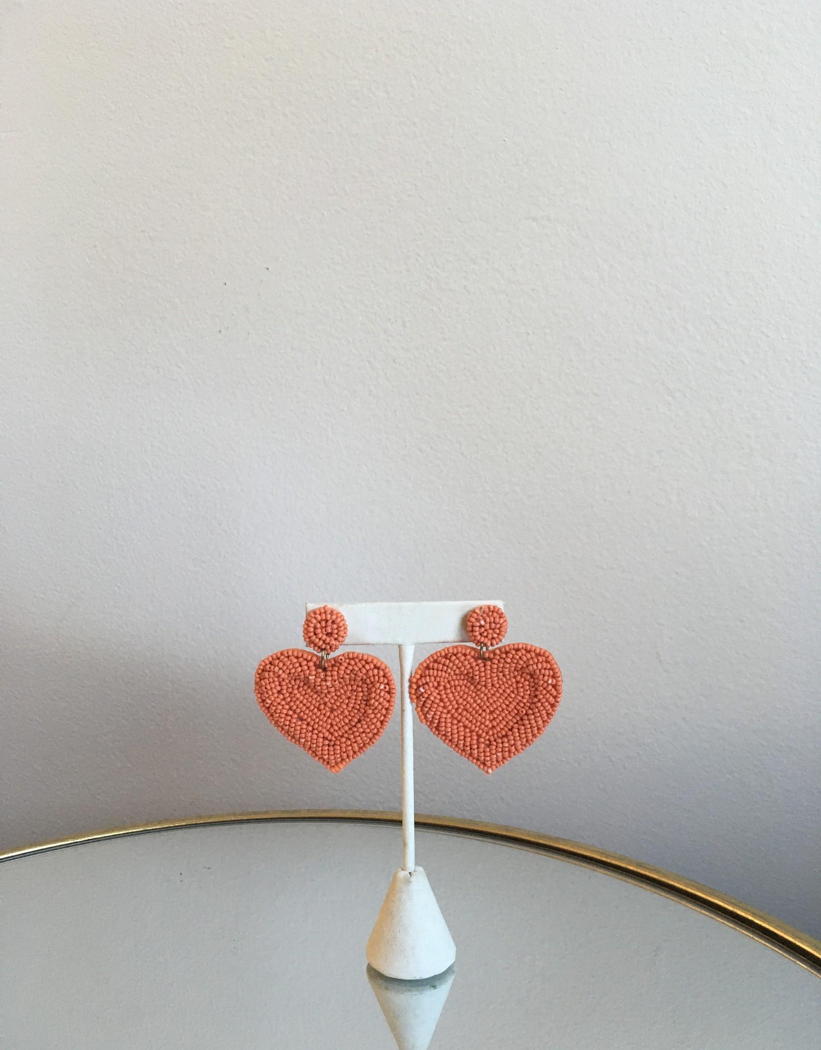 Golden Stella Beaded Hearts Orange
