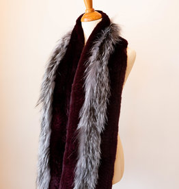 Linda Richards Silver Fox Scarf Wine Rex