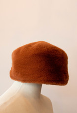 Fur Torque Hat Rust
