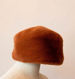 Fur Torque Hat Rust