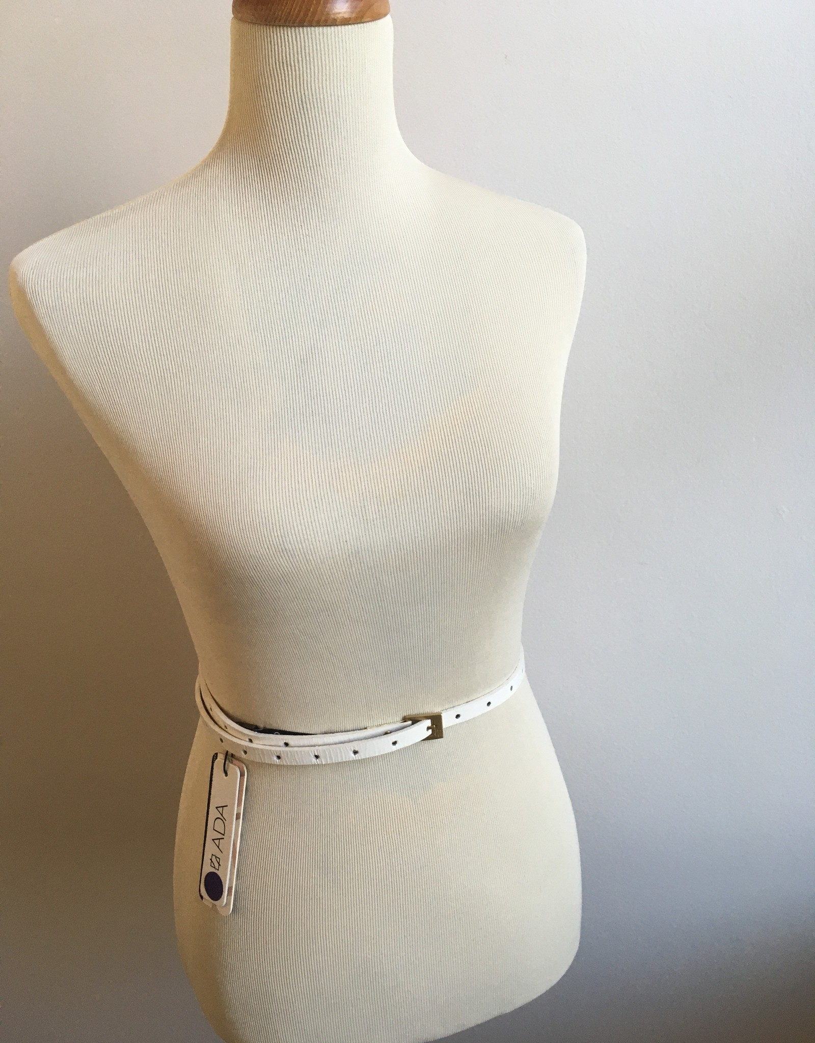 Claire Patent White Belt