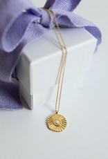 Gorjana Sunburst Coin Necklace Gold