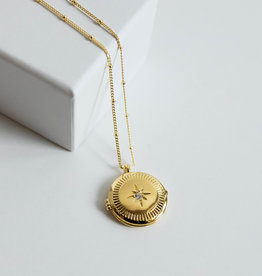Gorjana Stellar Locket Gold