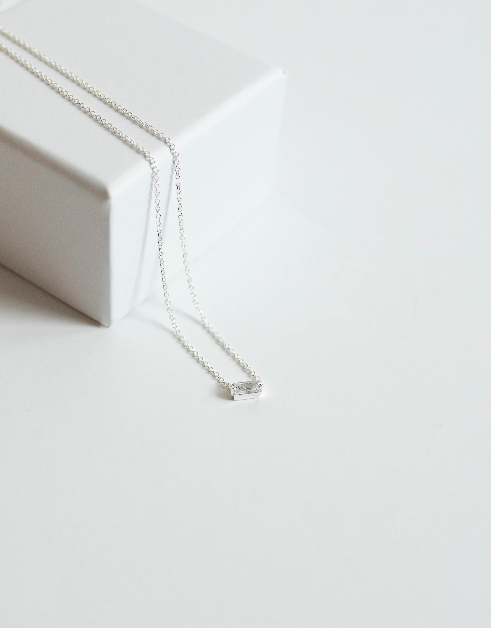 Gorjana Amara Solitaire Neck Silver