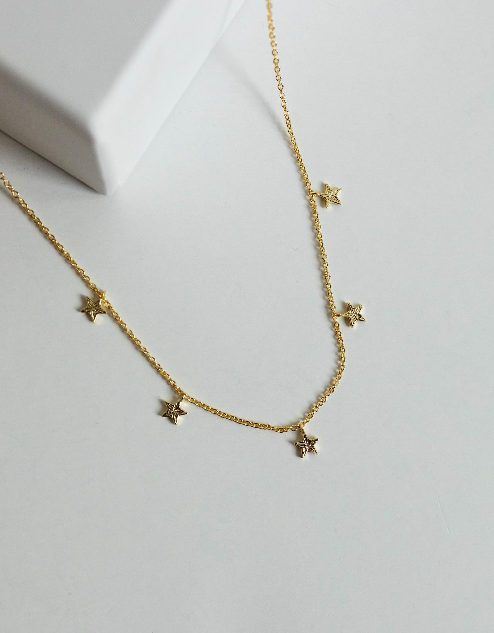 Gorjana Super Star Flutter Neck Gold