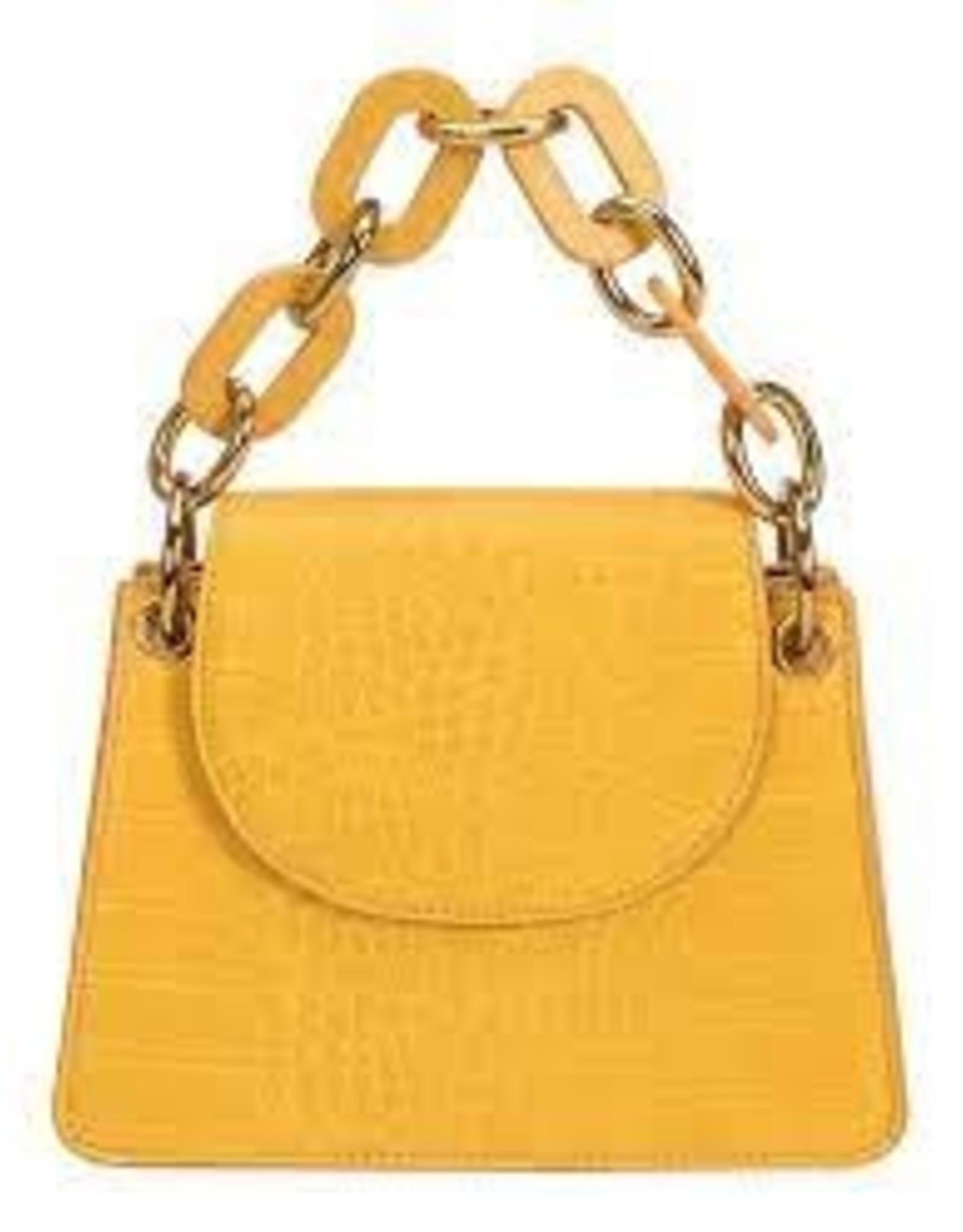 Melie Bianco Loren Chain Handle Croco