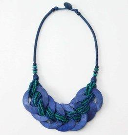 SYLCA Blue Shell Heidi Necklace