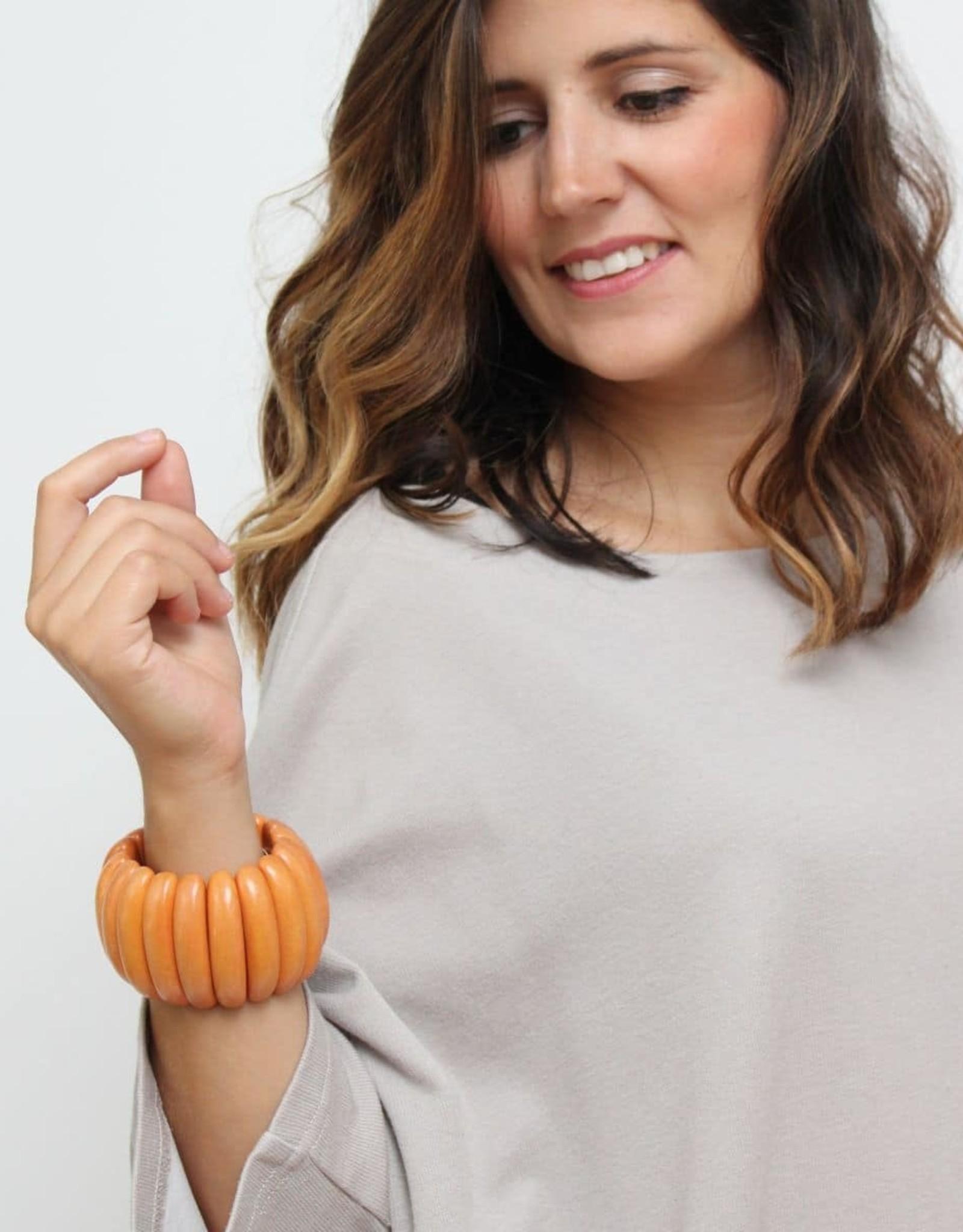 SYLCA Gia Orange Wooden Bracelet