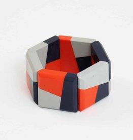 SYLCA Orange/Grey Yvette Cuff