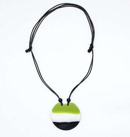 SYLCA Tri Color Green Aurora Necklace