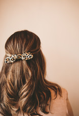 Pointed Double Bow Barrette