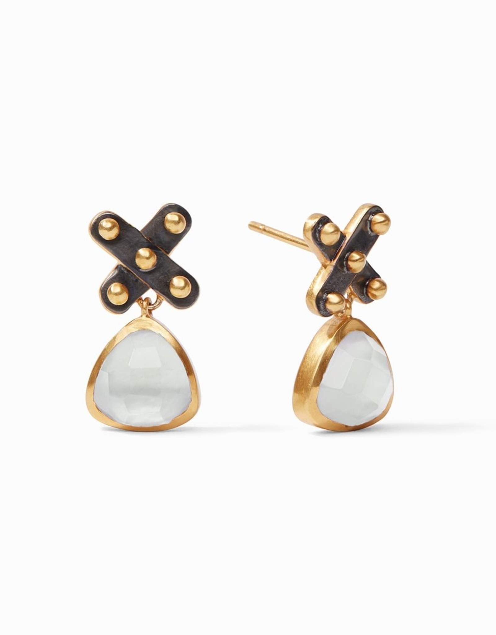 Julie Vos Soho Midi Earring Clear Crystal