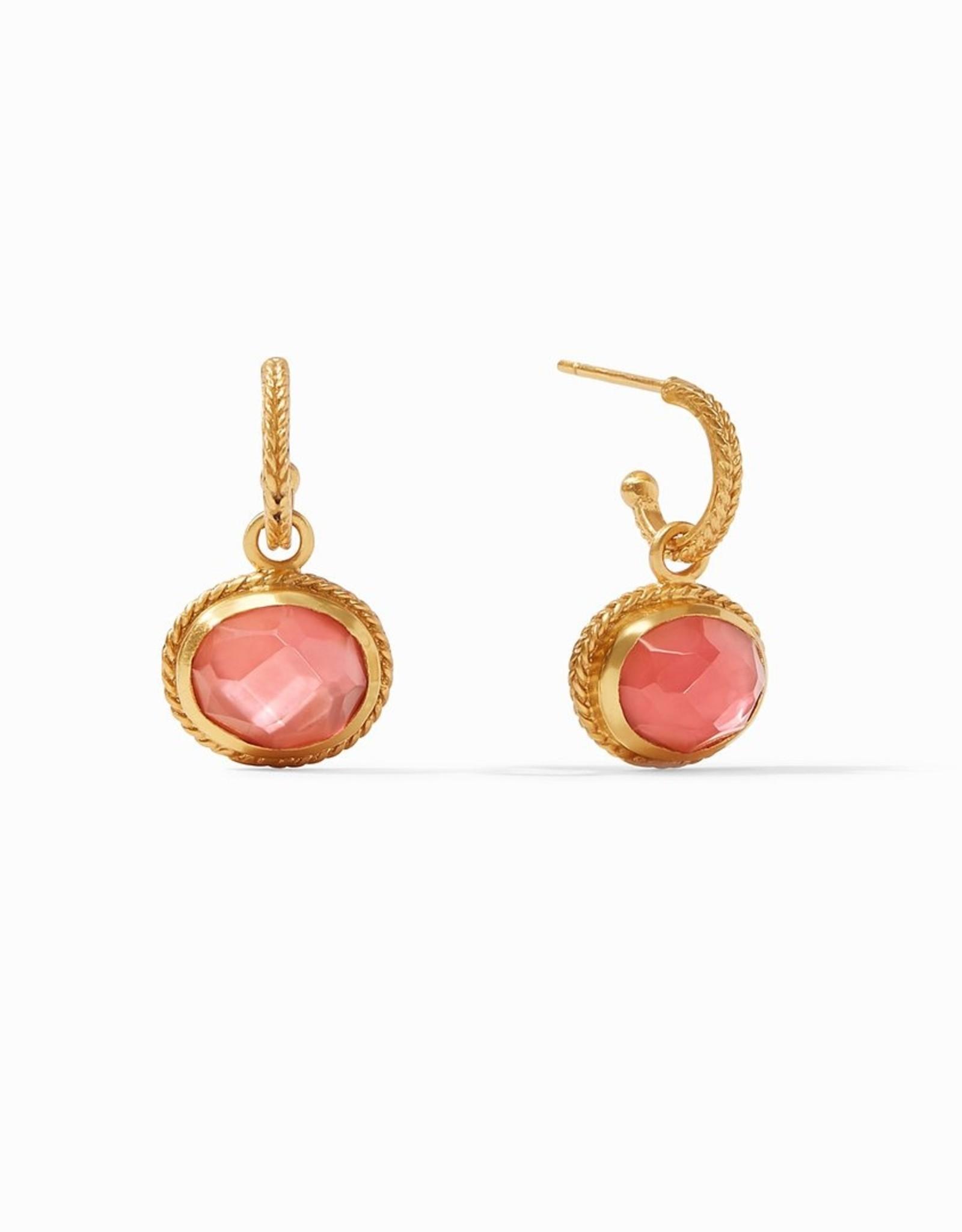 Julie Vos Calypso Hoop & Charm Earrings