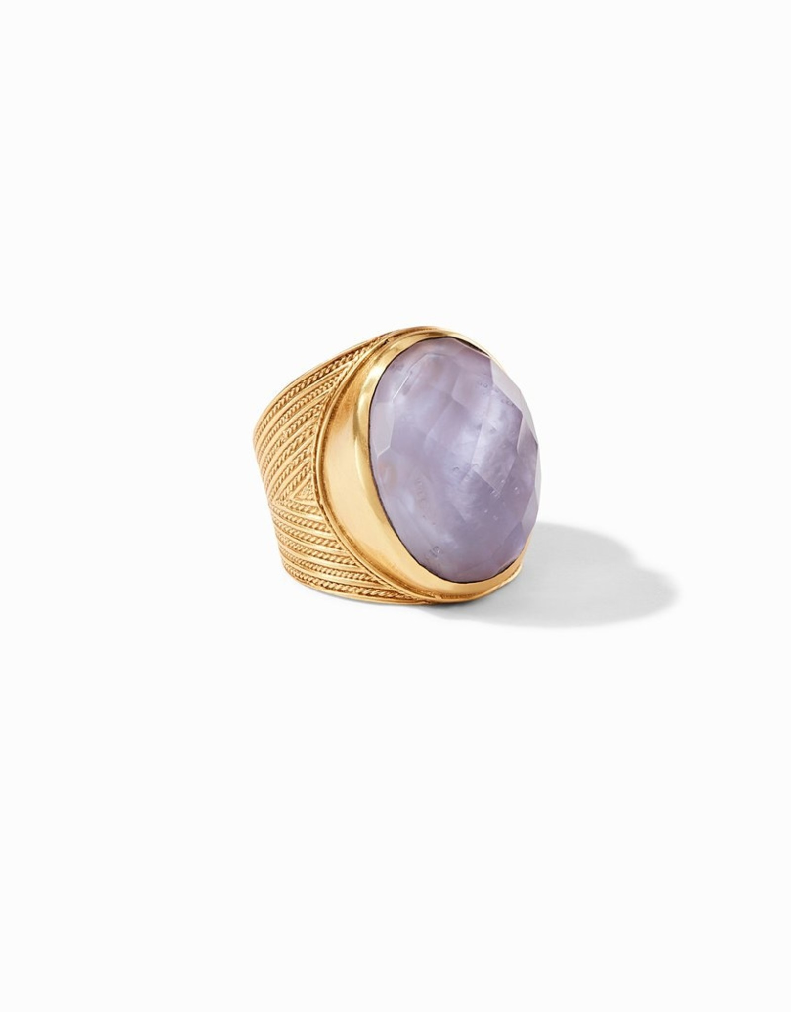 Julie Vos Verona Statement Ring 7 Lavender