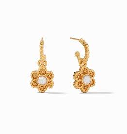 Julie Vos Colette Hoop & Charm Ear Pearl