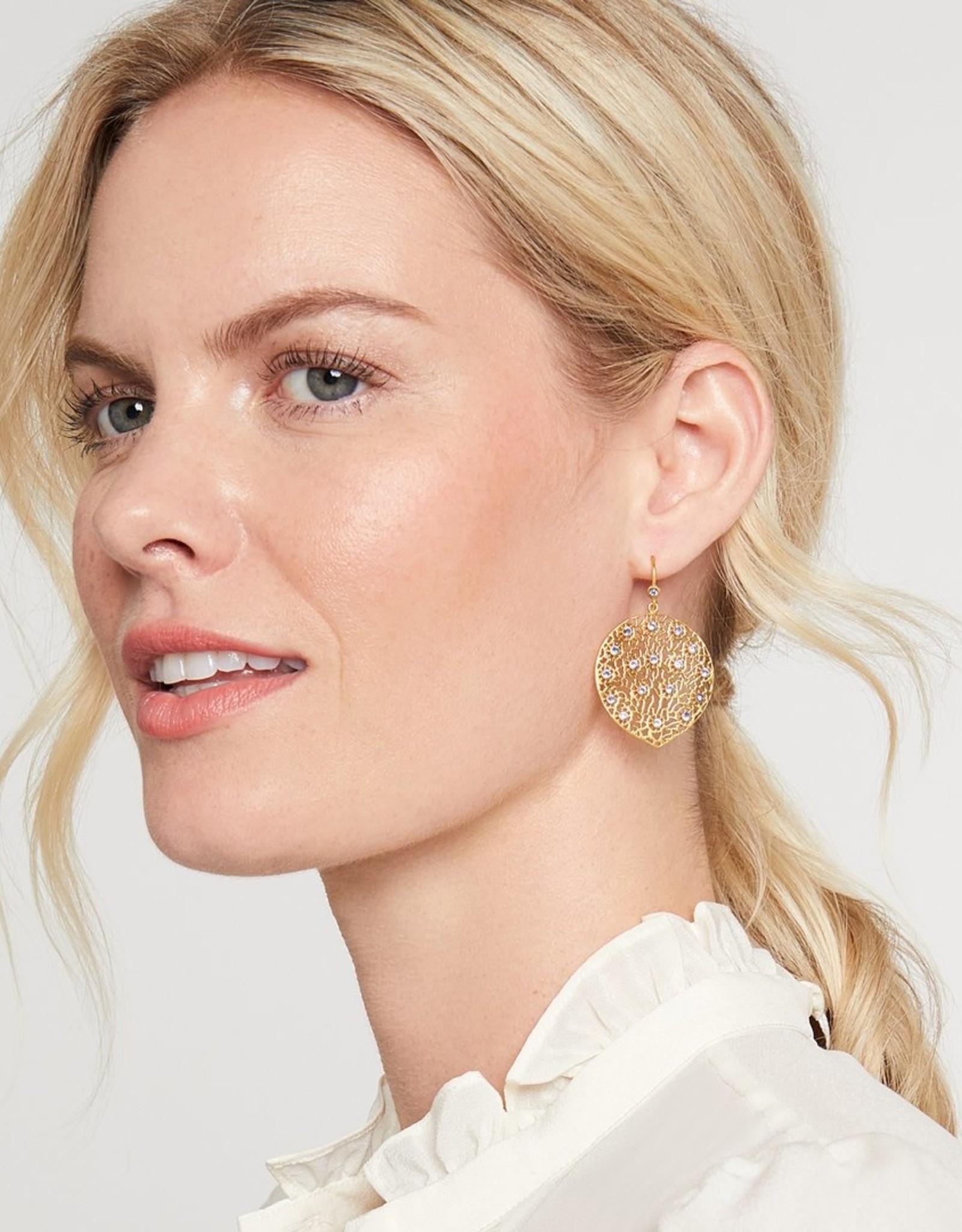 Julie Vos Peacock Earring Pearl