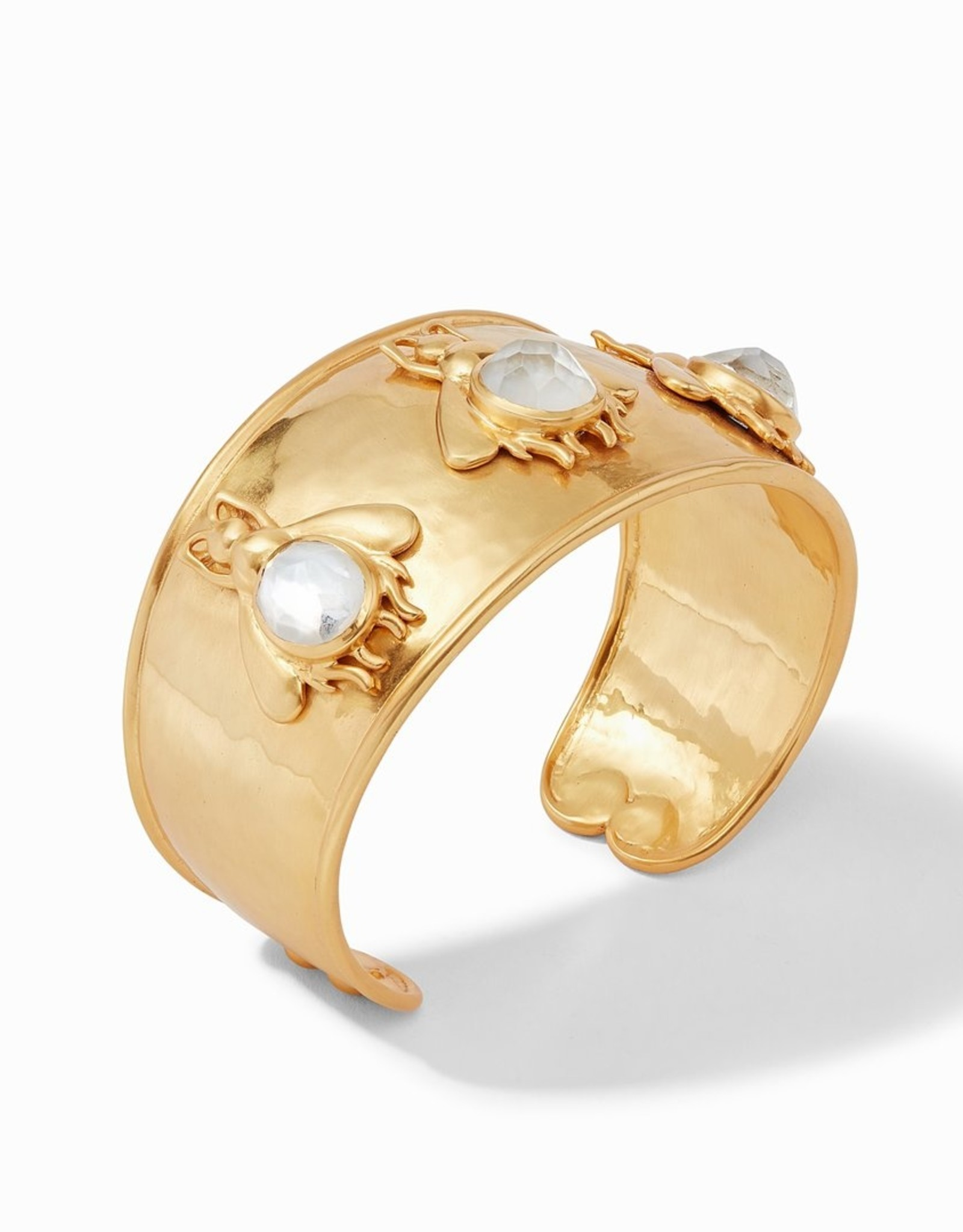 Julie Vos Bee Cuff Iridescent Clear Crystal