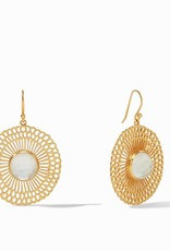 Julie Vos Soleil Earrings Clear Crystal