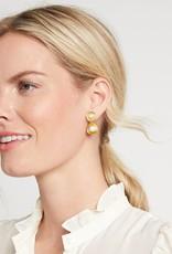 Julie Vos Barcelona Midi Earrings Clear Crystal